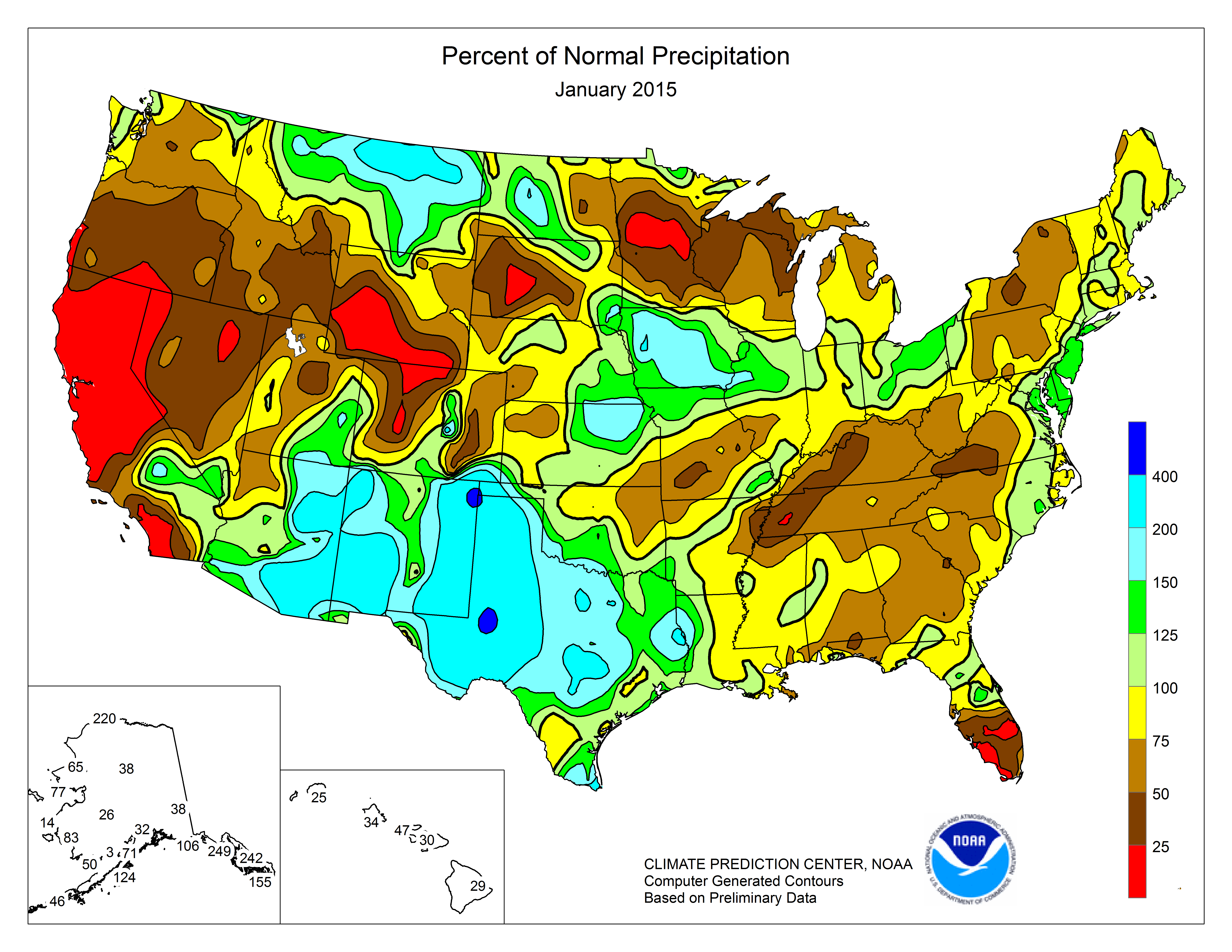 Noaa Precipitation Map Climate Prediction Center   Monitoring and Data: United States One