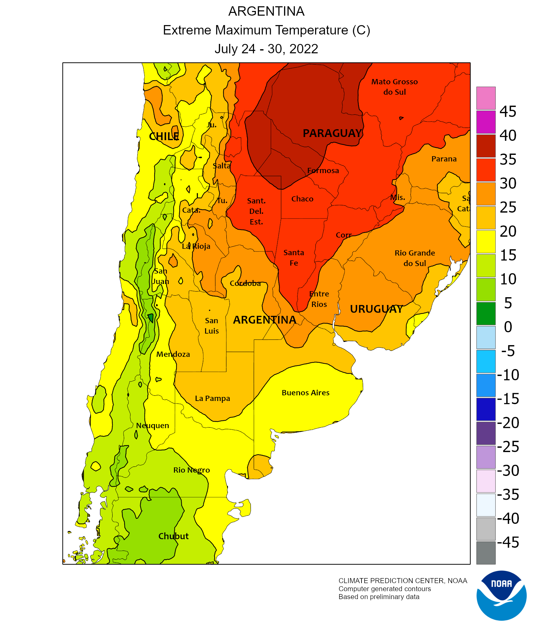 Weekly Maximum Temperature