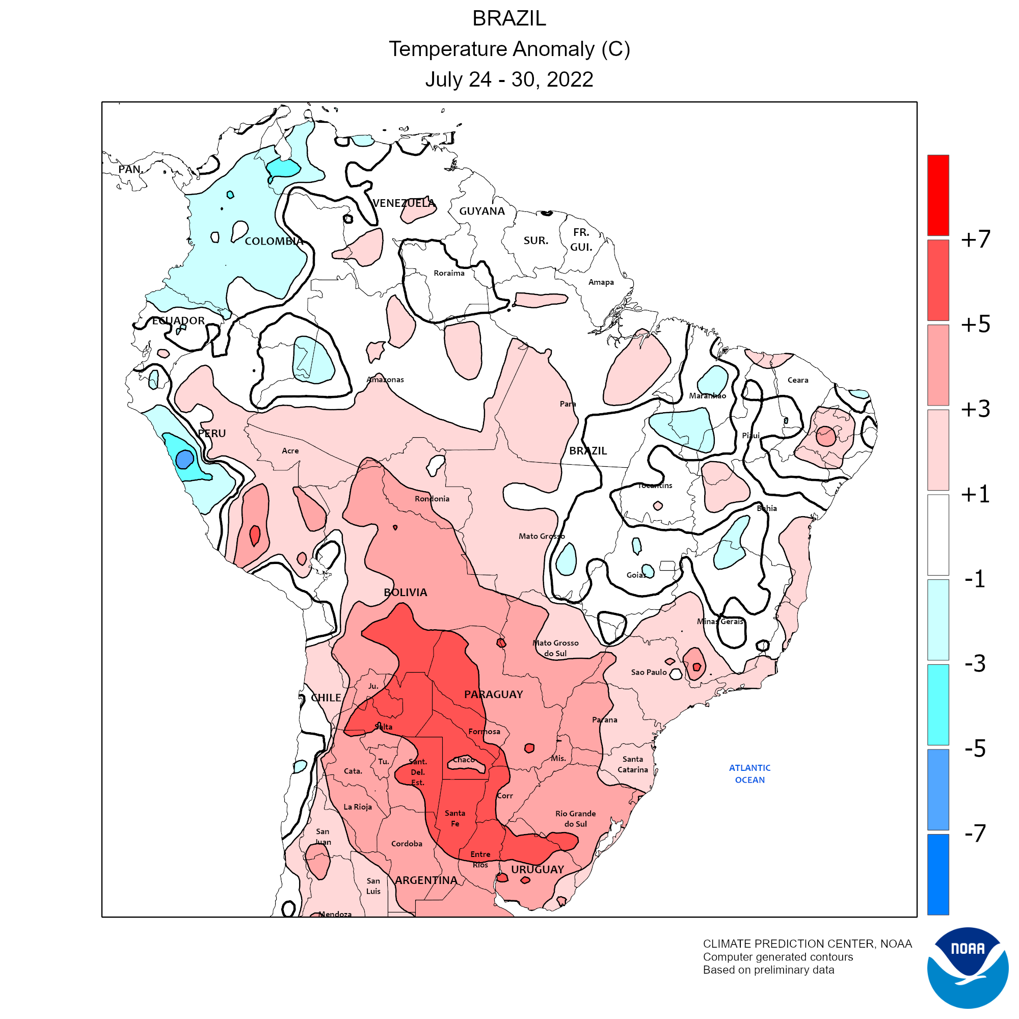Weekly Temperature Anomaly