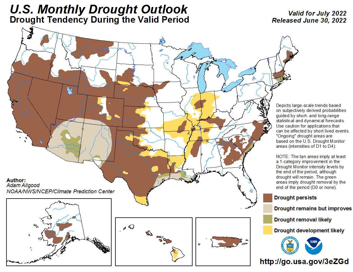 U.S. Monthly Drought Outlook