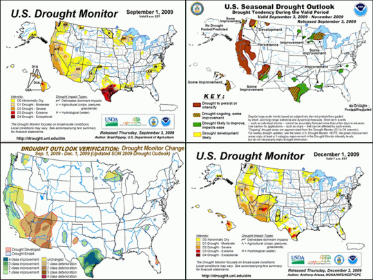 Seasonal Drought Outlook Verification graphics composite image
