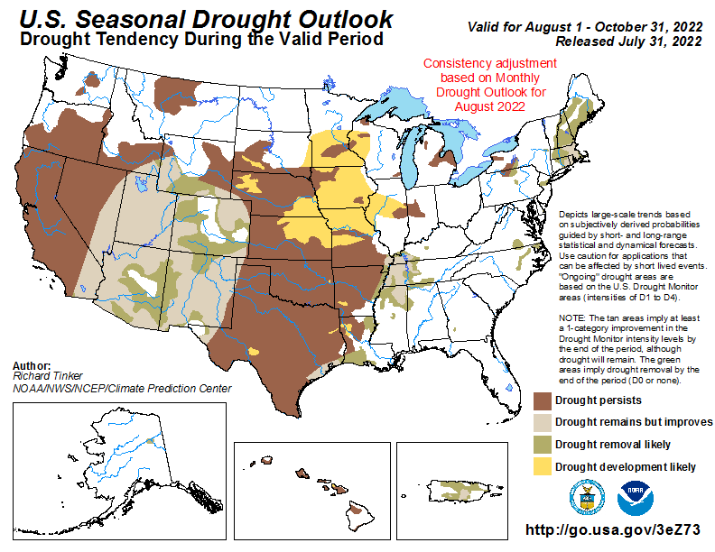 Seasonal United States drought outlook