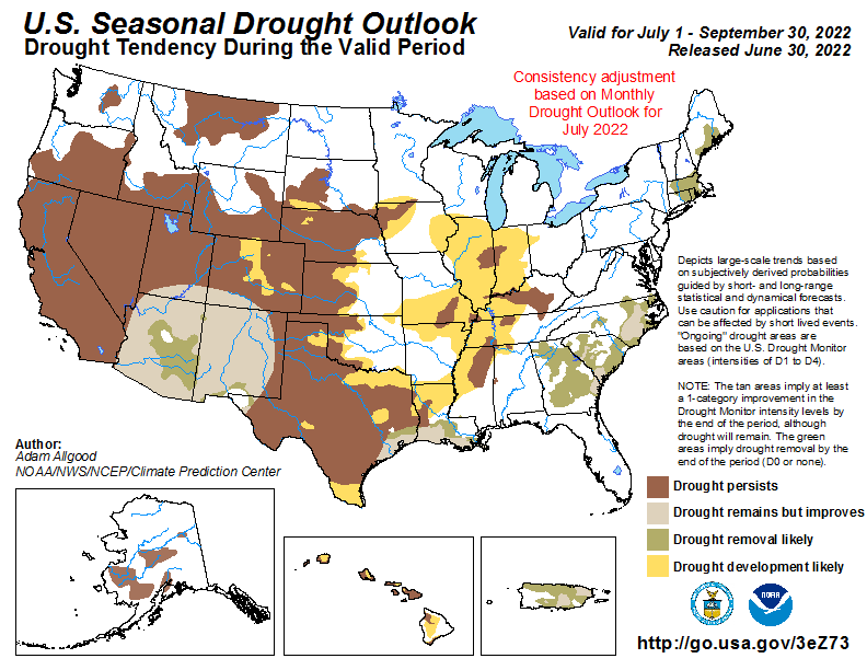 United States Seasonal Drought Outlook Graphic Click On Image To Enlarge