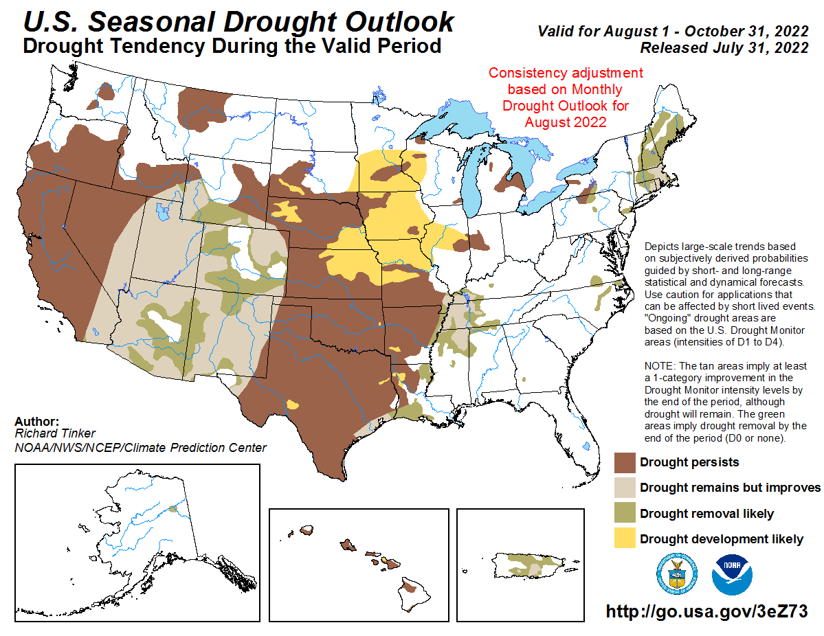 National Palmer Outlook Map