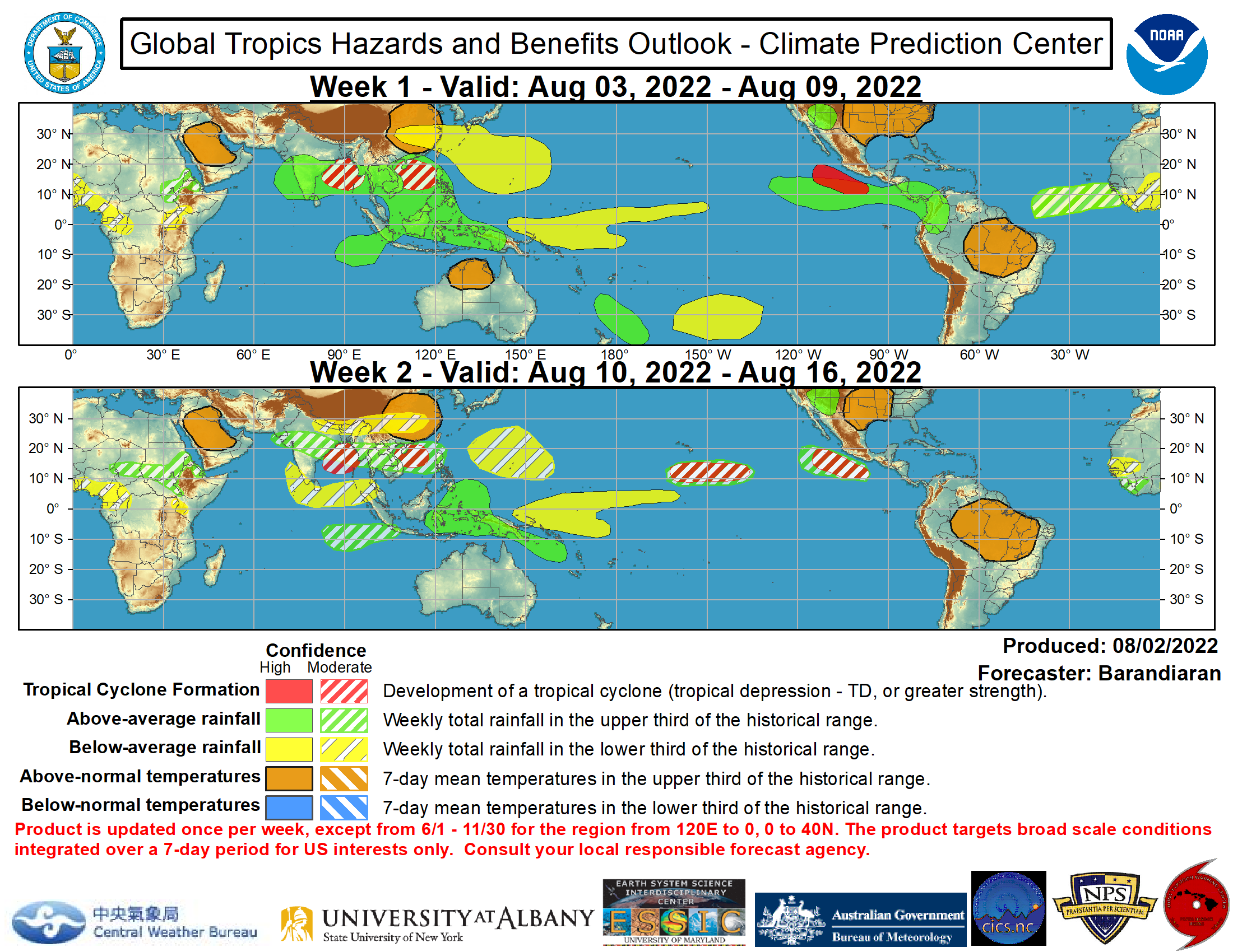 Global Tropics Hazards Outlook