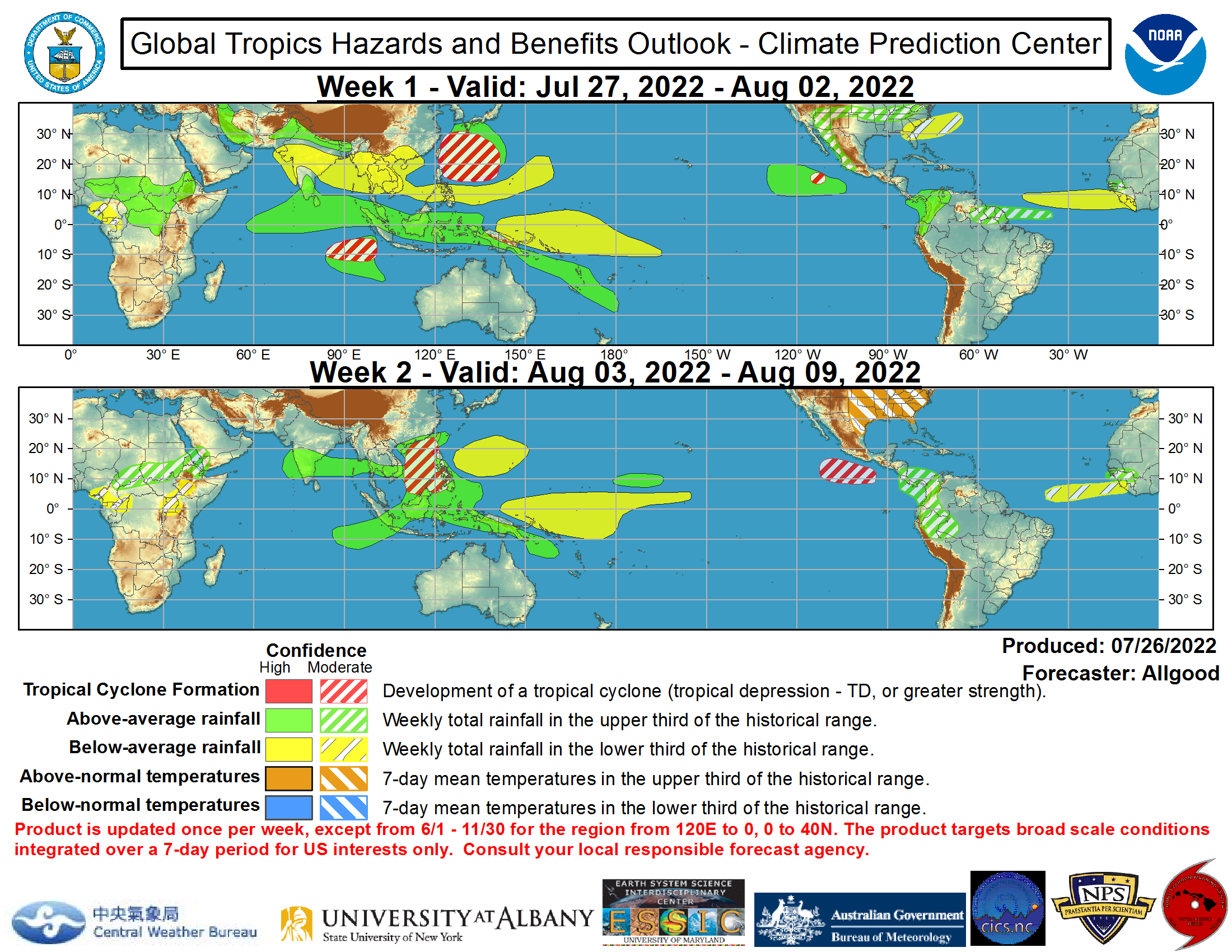 Latest Global Tropics Hazards Outlook