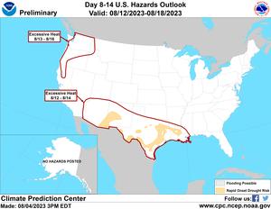 Day 3 - 7 U.S. Hazards Outlook