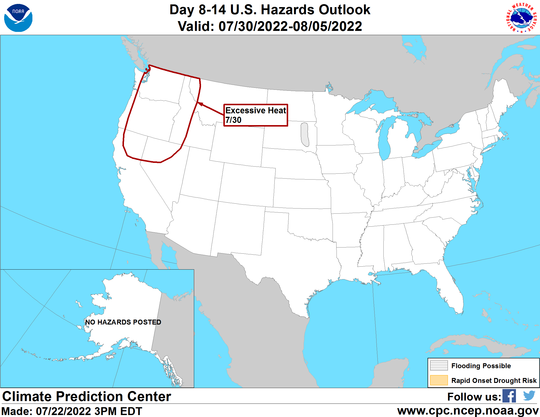 United States Precipitation Hazards