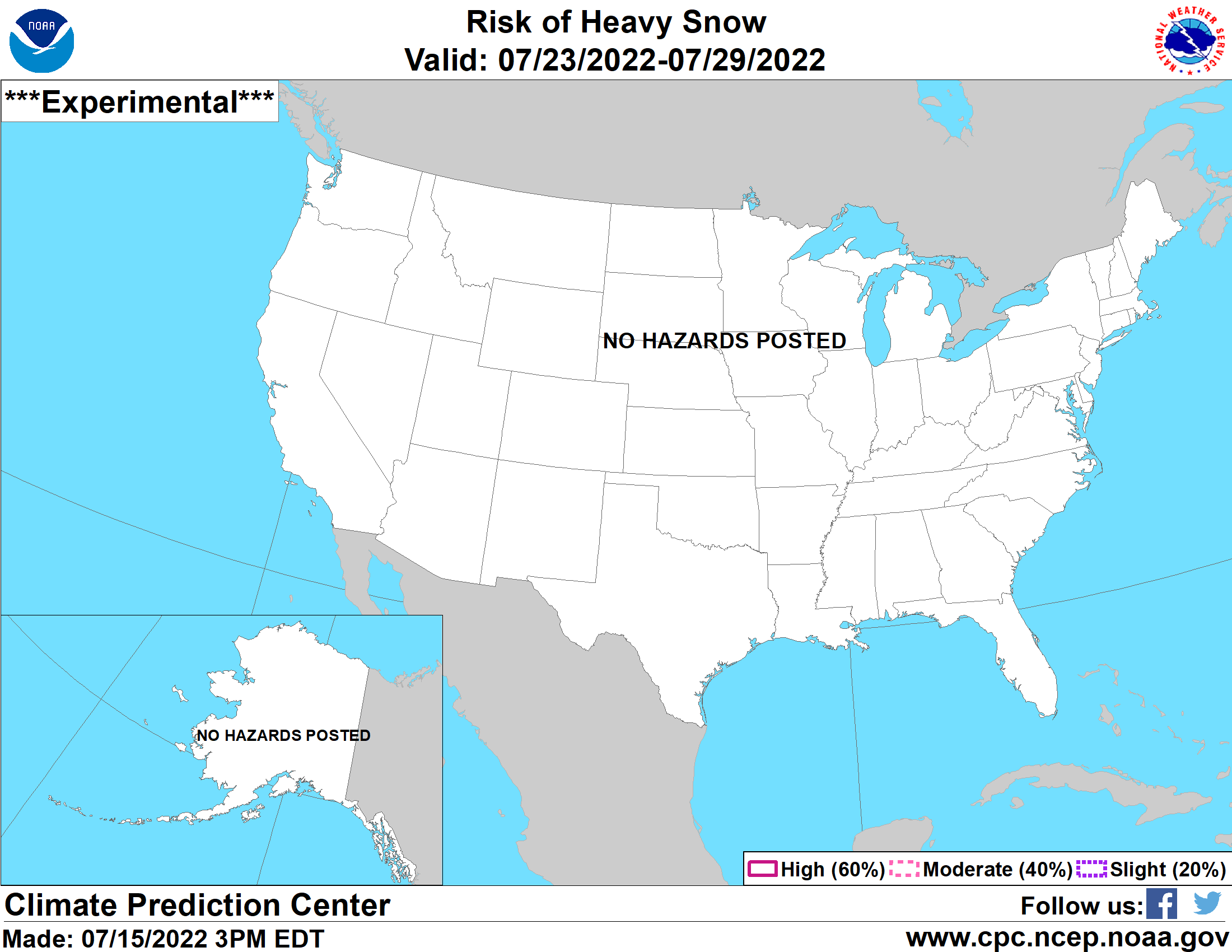 United States 8-14 Day Probabilistic Snow Hazards Outlook